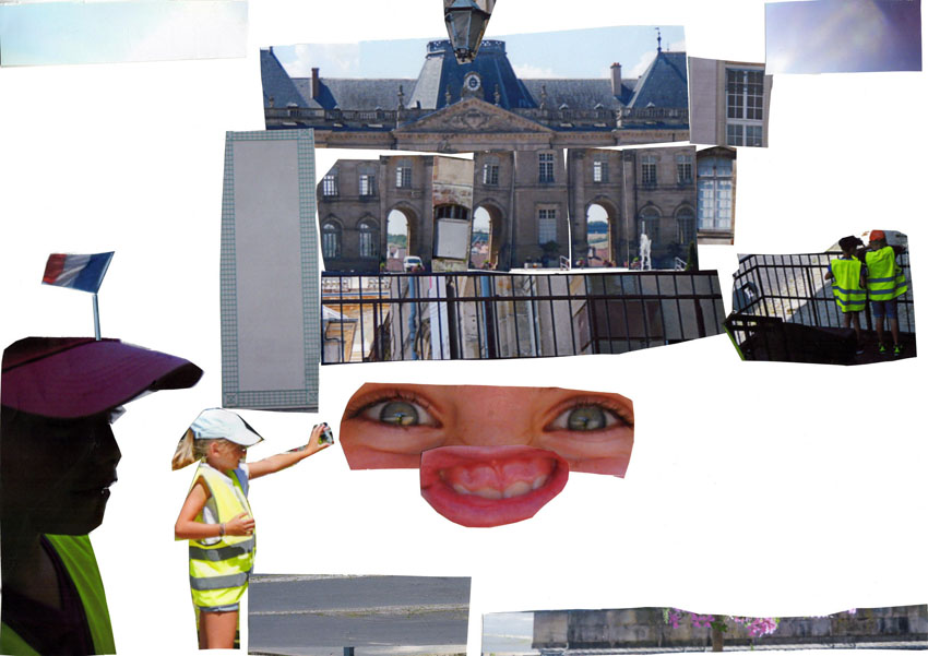 Ateliers menés avec plusieurs groupes d'enfants de 8 à 10 ans au Cri des lumières, centre photographique, dans l'enceinte du château de Lunéville.  Les enfants ont abordé de photo-montage traditionnel en mixant plusieurs vues qu'ils avaient prises du château et de son environnement direct : jardins, architecture, matières...   Ils se sont réapproprié l'architecture du château pour proposer leur château insolite !