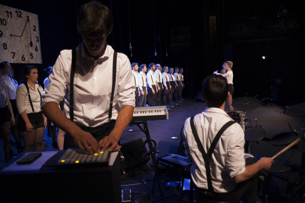 Spectacle Electrogenese, de la chorale universitaire de Nancy, Salle Poirel, 2018. Photographié par Alice Meyer