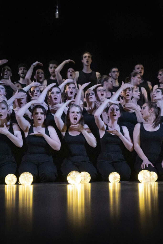 Spectacle Lumen, de la chorale universitaire de Nancy, Salle Poirel, 2019. Photographié par Alice Meyer